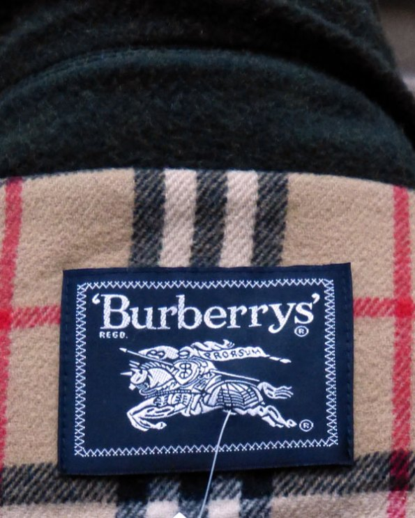 Chaquetón Burberry's verde pino