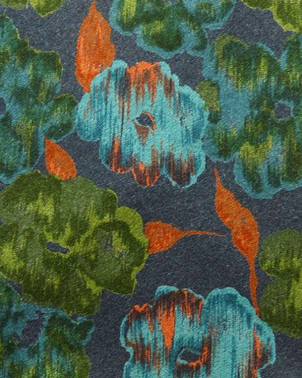 Corbata de Lanvin con estampado floral