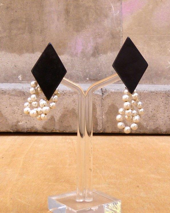 Pendientes de Rombos y Perlas