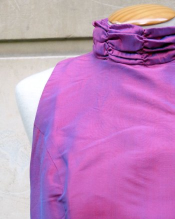 Vestido Largo Morado con Efecto Azul