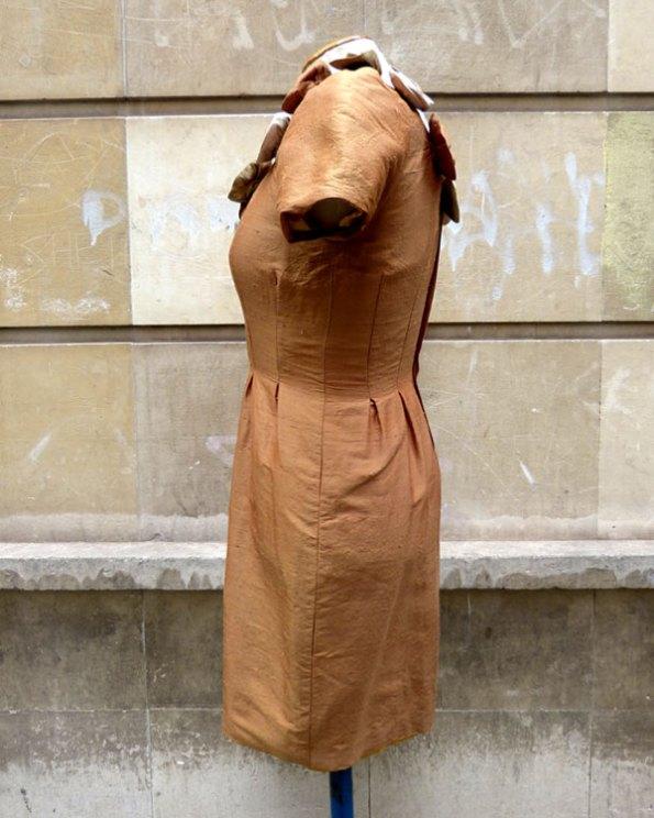 Vestido Cóctel en Seda Shantung
