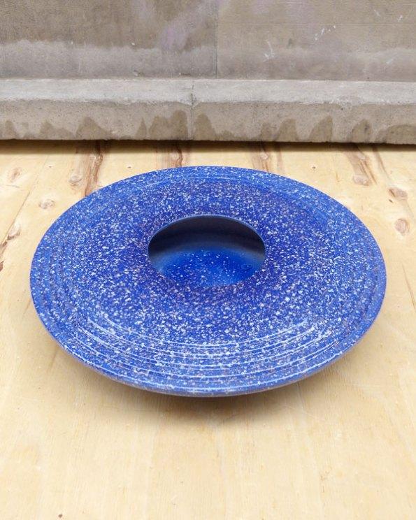 Jarrón Llano 80s Azul Moteado