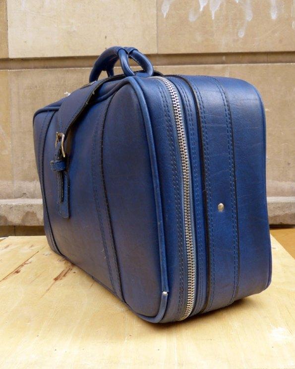 Maleta Samsonite 70's azul cobalto
