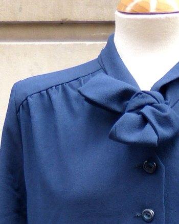 Vestido de Corbata 70's en color azul