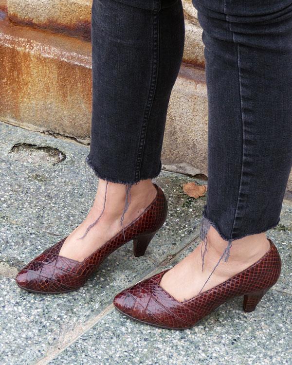 Zapatos de tacón de serpiente
