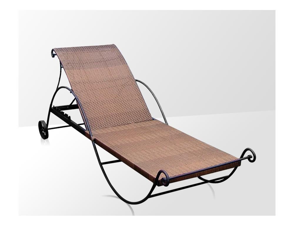 la metallerie chaise en fer forge avec coussin