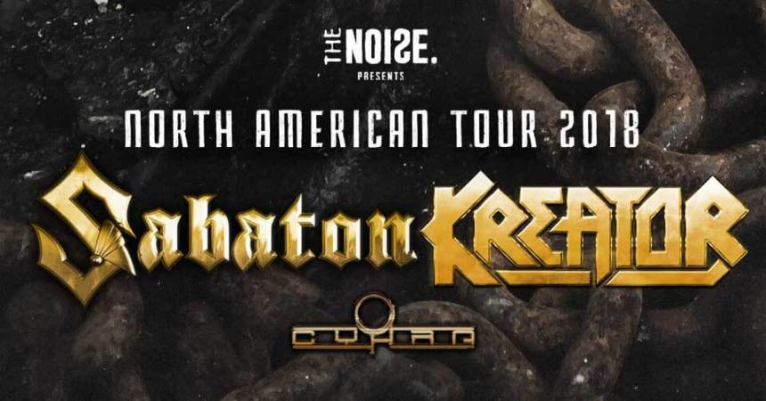 Sabaton-Kreator North Ametican Tour 2018
