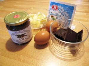 Torta morbida alla marmellata di castagne e cioccolato, ingredienti