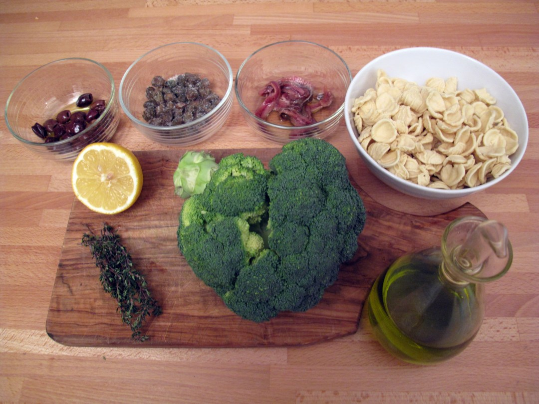 Orecchiette con i broccoli, ingredienti