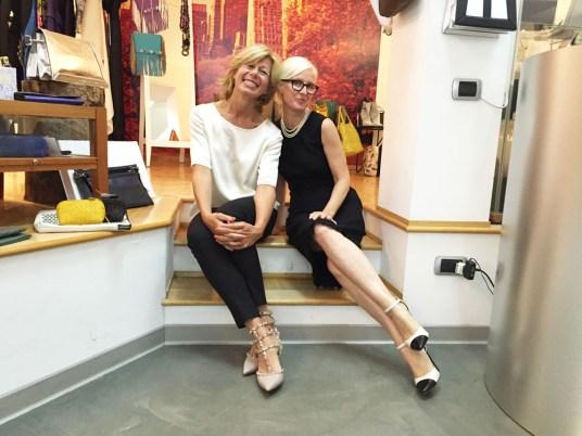 Con la collaboratrice Stella Rampollo