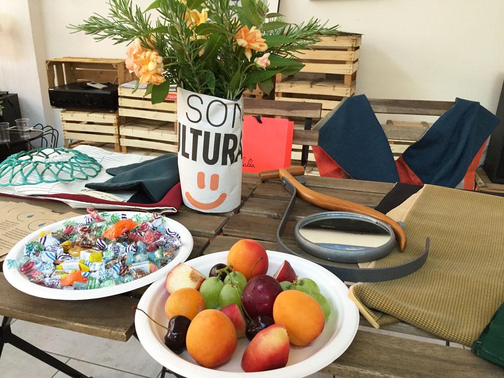Piatto di frutta realizzato da Rino
