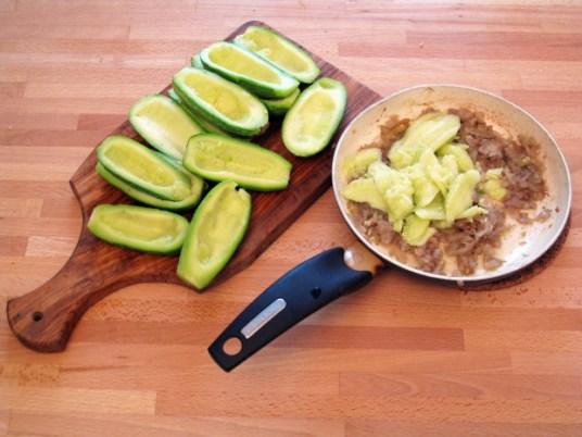 Zucchine ripiene alla ligure, preparazione