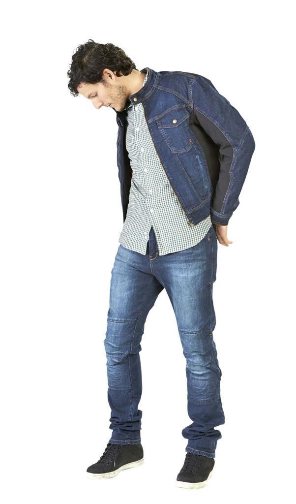 HEVIK, giubbino LONDRA in jeans blu, 138 euro