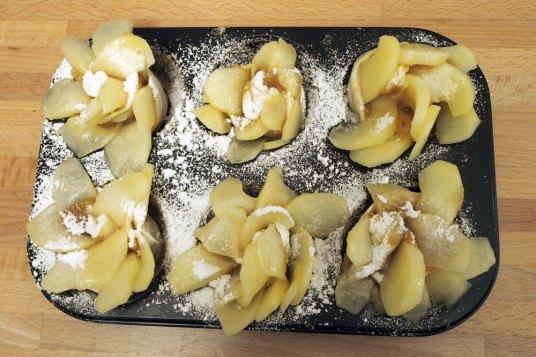 Rosette di mele con marmellata