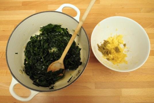 vellutata di spinaci, zenzero e ricotta