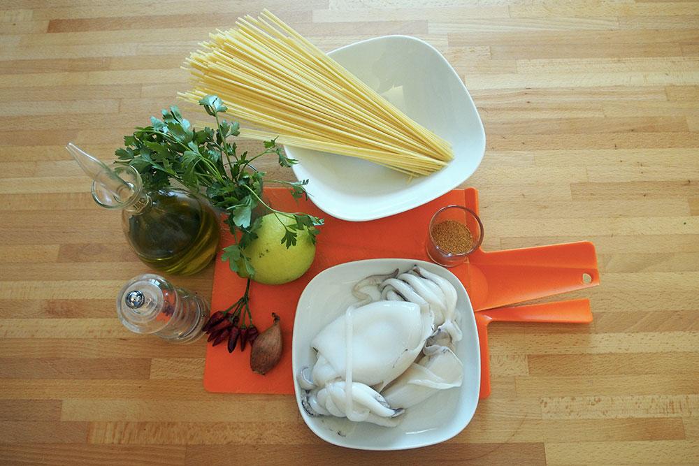 Spaghetti con seppie