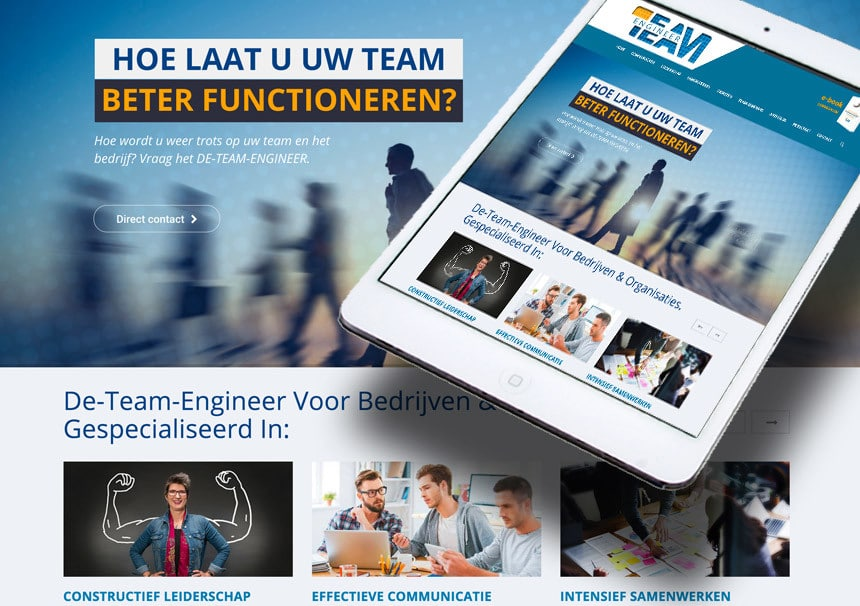 Website De Team Engineer door La Dolce Vita Marketing en webdesign uit Zeeland
