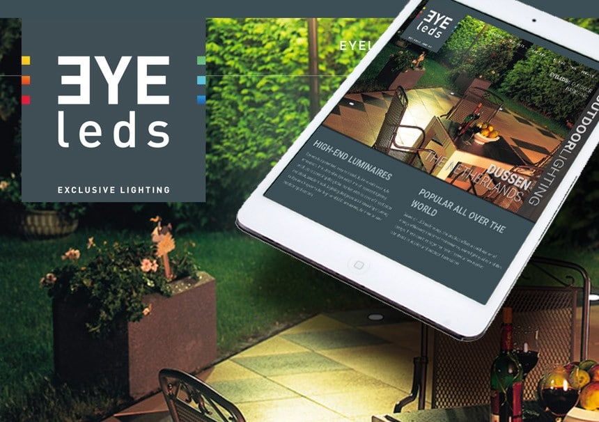 Website Eyeleds door La Dolce Vita Marketing en webdesign uit Zeeland