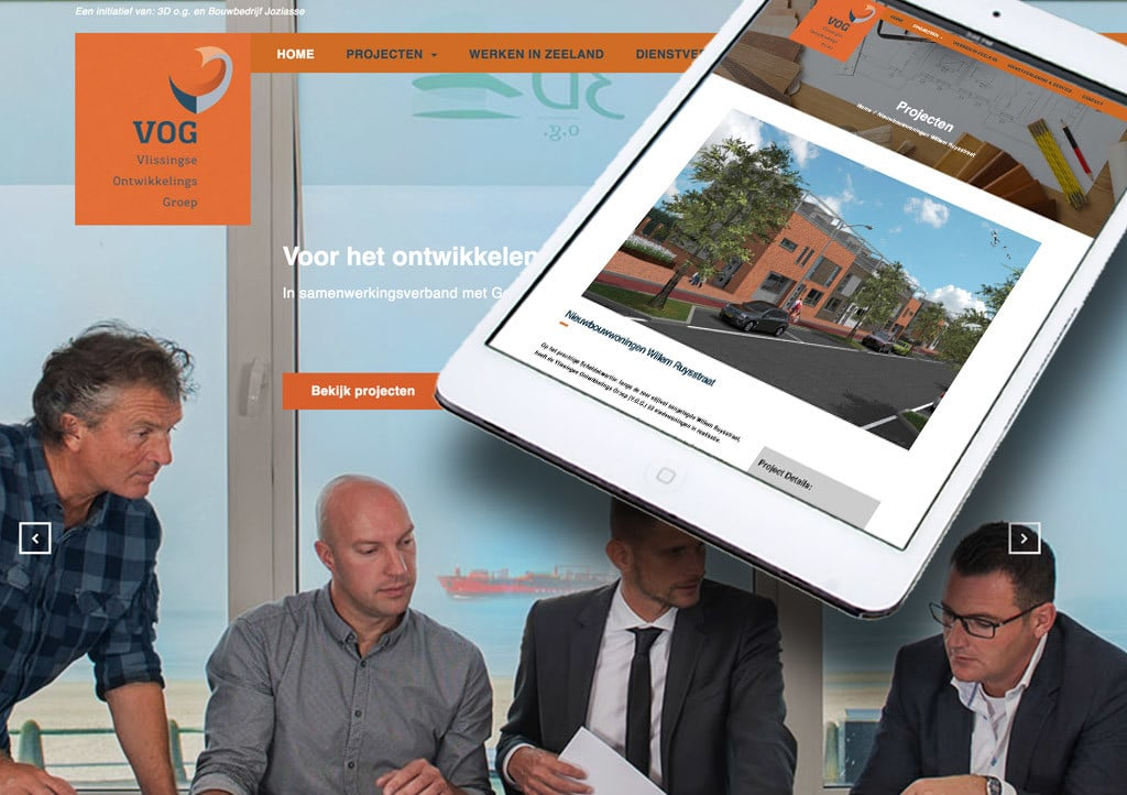 website VOG door La Dolce Vita Marketing en webdesign uit Zeeland