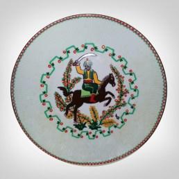 Porcelain Plate - Horseman