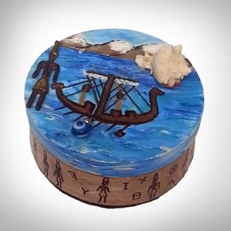 Lebanon Phoenician Round Box