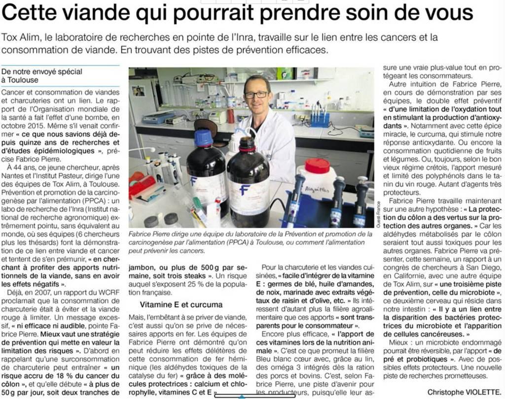 viandes et cancers Fabrice Pierre