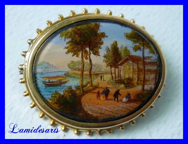 Brosche gesetzt Glasmalerei 1870