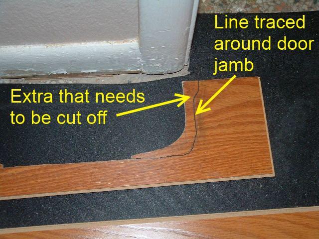 How To Cut Laminate Flooring Around Door Frames