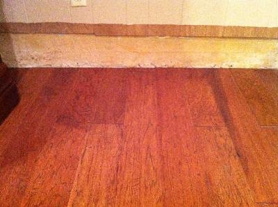 laminate flooring sunken living room charcoal and brown drop down in