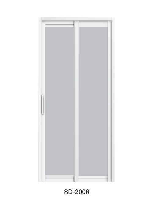 PVC Slide and Swing Toilet Door SD-2006