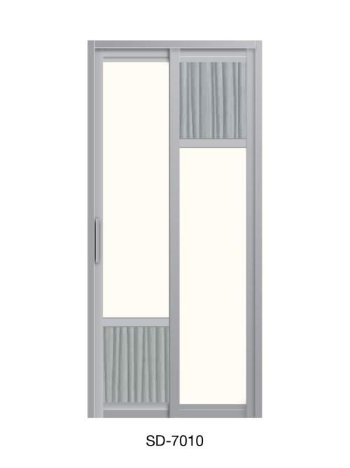 PVC Slide & Swing Toilet Door SD-7010