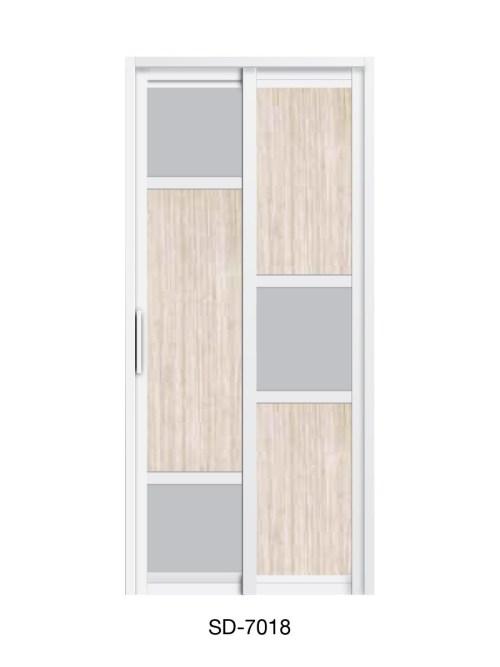 PVC Slide & Swing Toilet Door SD-7018