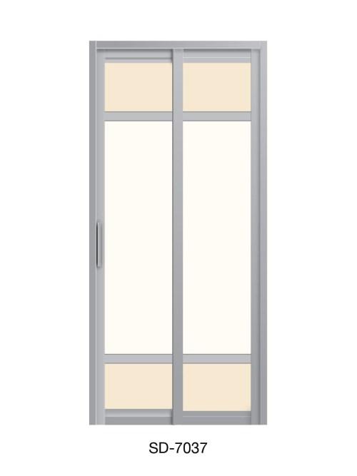 PVC Slide & Swing Toilet Door SD-7037