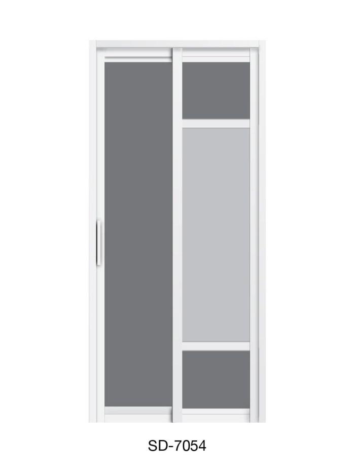 PVC Slide Swing Toilet Door SD-7054