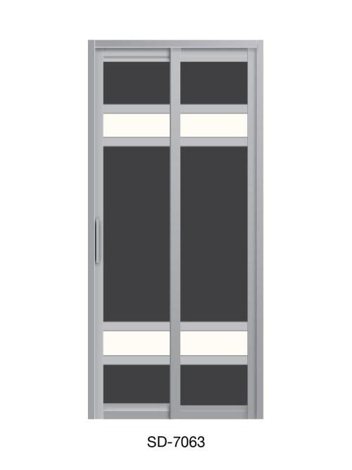 PVC Slide Swing Toilet Door SD-7063