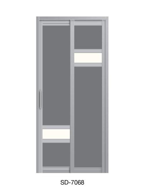 PVC Slide Swing Toilet Door SD-7068