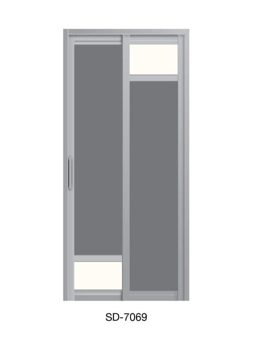 PVC Slide Swing Toilet Door SD-7069