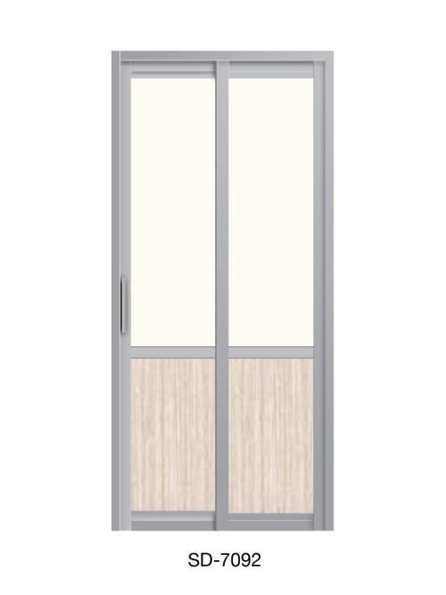 PVC Slide Swing Toilet Door SD-7092