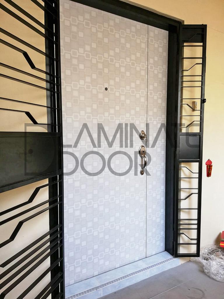Abstraction Designer Laminate Solid Main Door