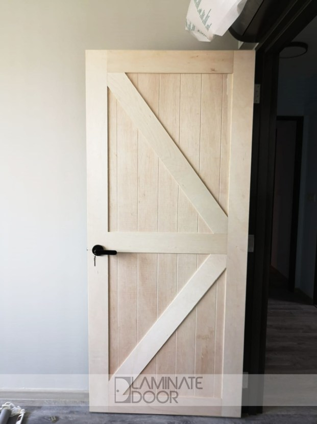 Full Solid Natural Barn Door
