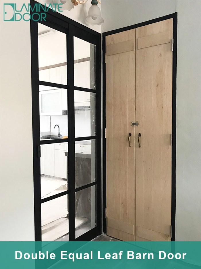 Double Equal Leaf Barn Door