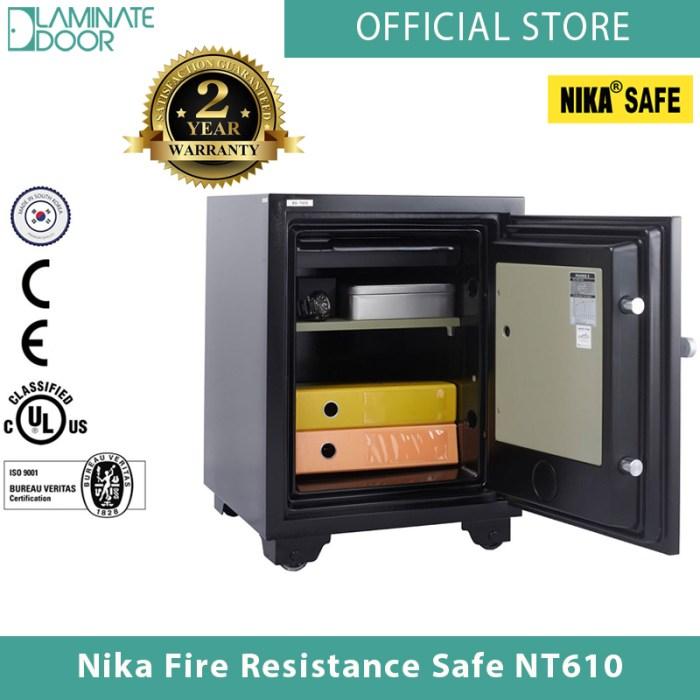 Nika Fire Resistance Safe NT610 black 2