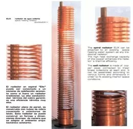 Radiador en cobre espiral Elix