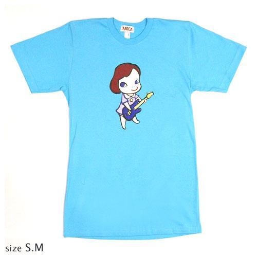 奈良美智 Tシャツ [GIRL WITH BASS(アクアブルー)]