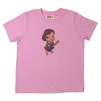 奈良美智 Tシャツ [GIRL WITH BASS(ピンク)]