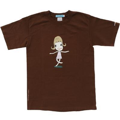 奈良美智 Tシャツ [Dancing Girl(ブラウン)]