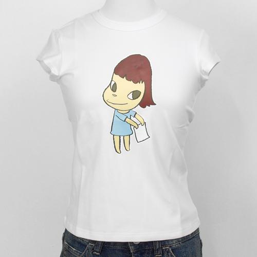 奈良美智 女性用Tシャツ [TAIPEI MOCA(ホワイト)]