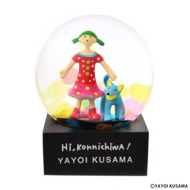 草間彌生 スノードーム [ Hi,Konnichiwa! ]