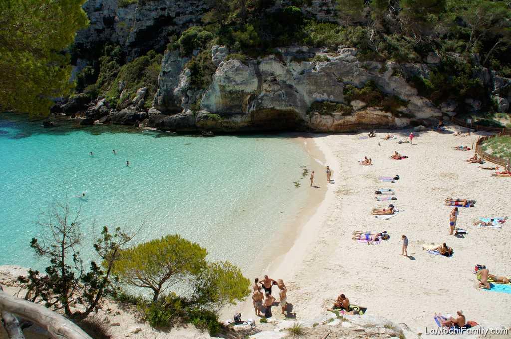 Cala Macarelleta mejor cala de Menorca