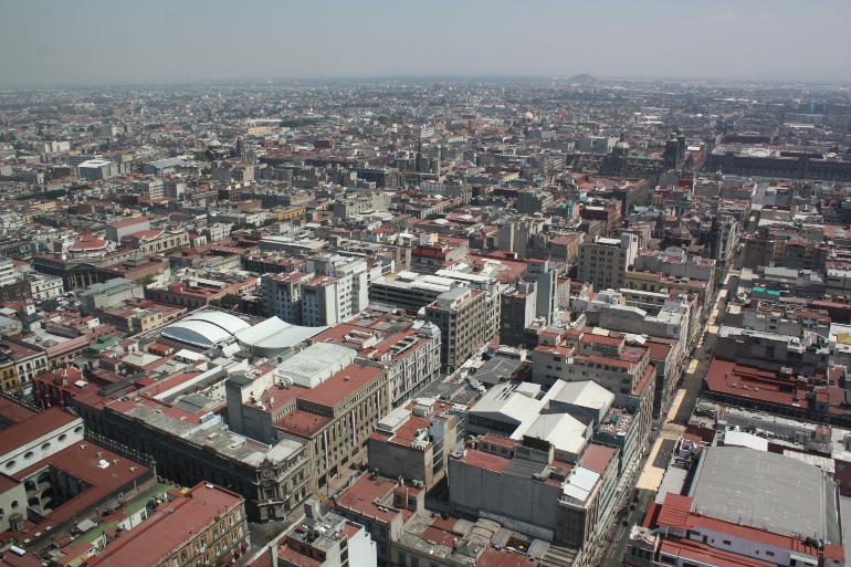vistas de ciudad de méxico desde la torre latinoamericana